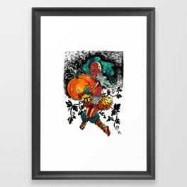 Pumpkin Demon Framed Art Print