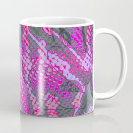 Fuchsia and Gray Snakeskin Coffee Mug