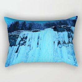 Moonlit Ice Wall Rectangular Pillow