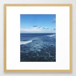 blue on blue Framed Art Print