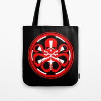 hydra Tote Bags featuring Hydra Empire by •tj•rae•