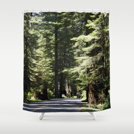 Humboldt State Park Road Shower Curtain