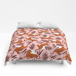 Vibrant Wilderness / Tigers on Pink Comforters
