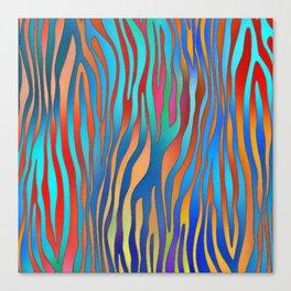 Colored Zebra Pattern Canvas Print