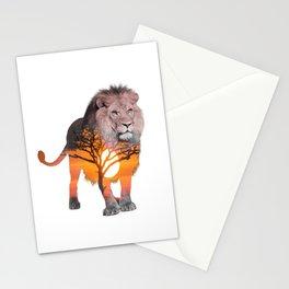 LION poster, Savanna canvas, Stationery Cards