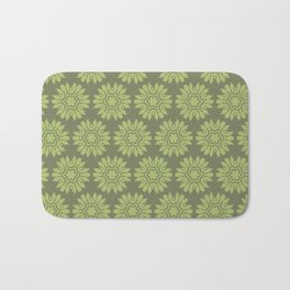 Army Green Flowers Bath Mat