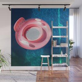 Rose blue swimming pool Wall Mural