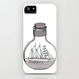 the ship in the bulb . illustration . iPhone Case
