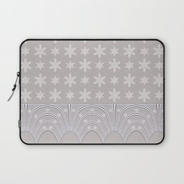 Lacy Mocha Pattern with Creamy Chenille Stars Laptop Sleeve