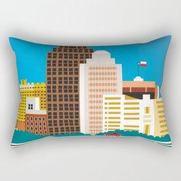 San Antonio, Texas - Skyline Illustration by Loose Petals Rectangular Pillow