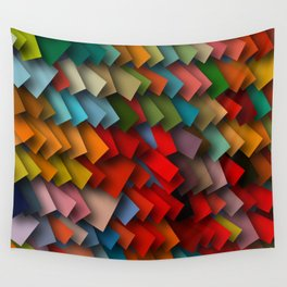 colorful rectangles with shadows Wall Tapestry