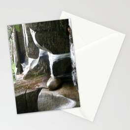 Rocky water fall Stationery Cards