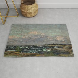 Tom Thomson Windy Day- Rough Weather in the Islands 1914. Canadian Landscape Artist Rug