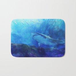 Make Way for the Great White Shark King  Bath Mat