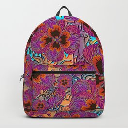 The Lost Pansy Flower Forest Backpack