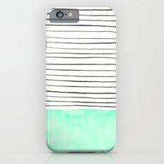 Stripes and watercolor iPhone 6s Slim Case