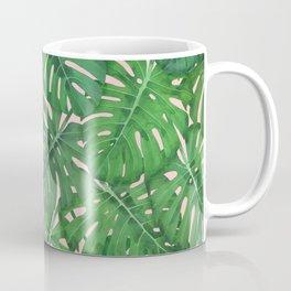 ROSE QUARTZ MONSTERA, by Frank-Joseph Coffee Mug