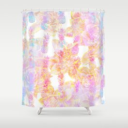 Abstract Pastel Pineapple Shower Curtain