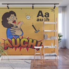 Comic Alphabet-A Wall Mural