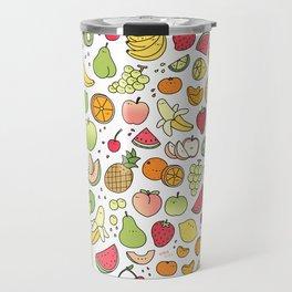 Juicy Fruits Doodle Travel Mug