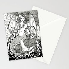 The Sea is a Lonely Place Ink Stationery Cards