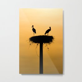 storks #society6 #decor #buyart Metal Print