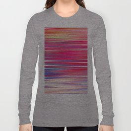 pink abstract with horizontal stripes Long Sleeve T-shirt