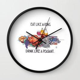 Eat Like A King Wall Clock