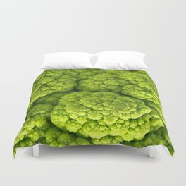 Green Cauliflower Macro Duvet Cover