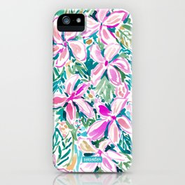 PLUMERIA PARADISE Tropical Floral iPhone Case
