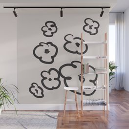 Black Poppy Wall Mural