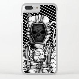 Skelenaut V3 (Black & White) Clear iPhone Case
