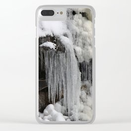 melting snow Clear iPhone Case
