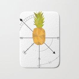 Pineapple Compass Bath Mat