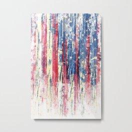 Amerikka Distress Metal Print