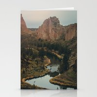 melissa smith Stationery Cards featuring Smith Rock by Charley Zheng