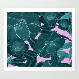 Intrepid Blooms (Emerald) Art Print