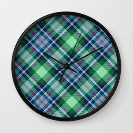 Scottish tartan #25 Wall Clock