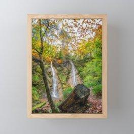 Grey Mares Tail Waterfall Wales Framed Mini Art Print
