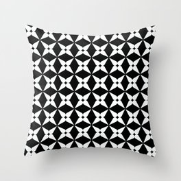 Geometric Pattern 247 (white crosses) Throw Pillow