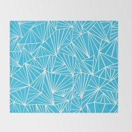 Ab Fan Electric Blue Throw Blanket