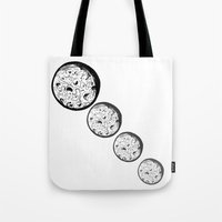 moonrise Tote Bags featuring Moonrise by Destiny Davison