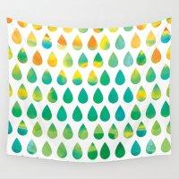 rain Wall Tapestries featuring Monsoon Rain by Picomodi