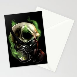 Skull/Gas mask 12 Stationery Cards