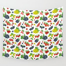 Colorful Berries Pattern Wall Tapestry