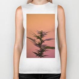 Macro cannabis kush photo Biker Tank