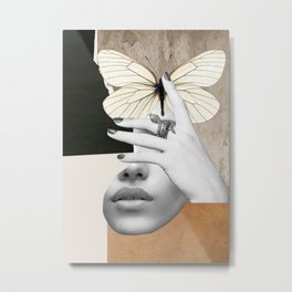 collage art / butterfly 2 Metal Print