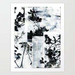Monochrome Tiles Art Print