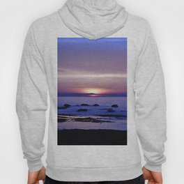 Blue and Purple Sunset on the Sea Hoody