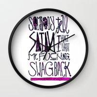 splatter Wall Clocks featuring Splatter by Matt Smiroldo